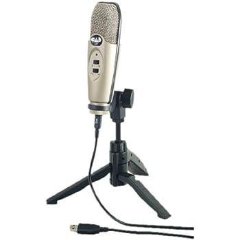 CAD audio U37SE-CA grande microfono a condensatore cardioide, USB, con treppiede–rosso (Apple Red), Silver