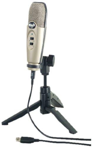Cad U37 Usb Studio Condenser Recording Microphone, Silver