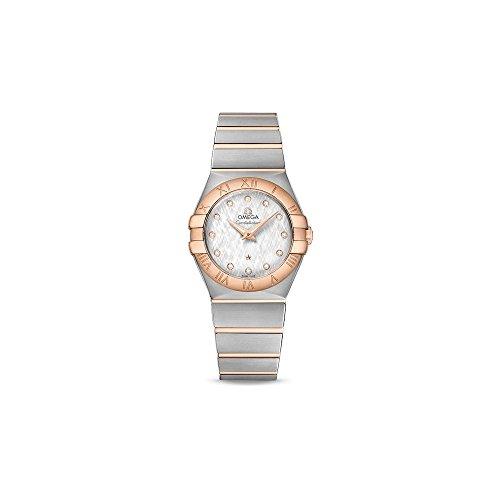 Omega costellazione argento quadrante Ladies orologio 123.20.27.60.52.002