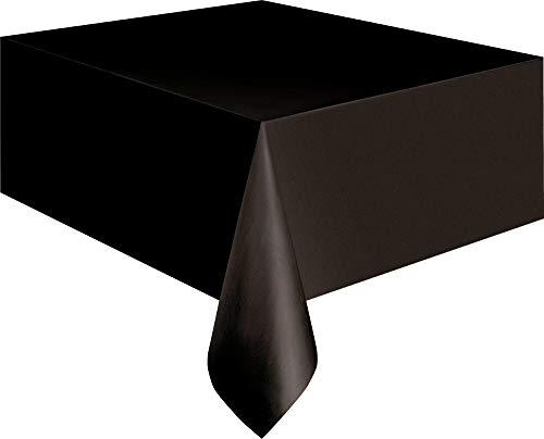 Kunststoff-Tischdecke, 2,74 x 1,37 m, schwarz, Einheitsgröße (Aus Kunststoff Tischdecken)