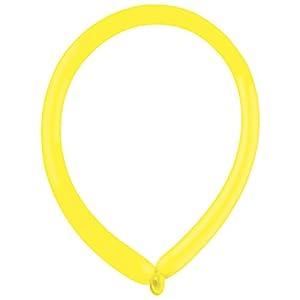 amscan 9905500 E160 - Globos de látex (100 Unidades), Color Amarillo