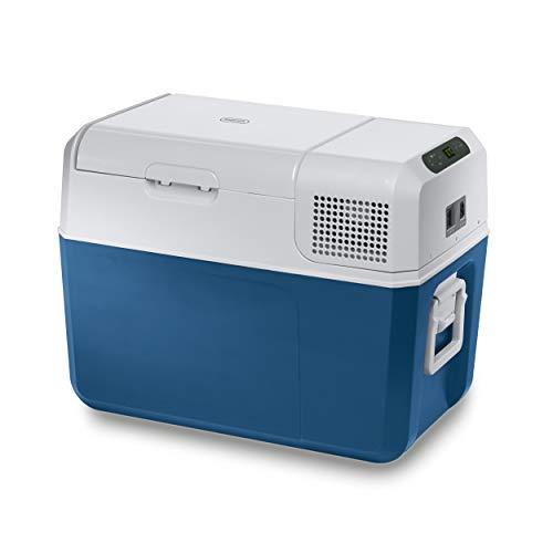 Mobicool MCF40, elektrische Kompressor-Kühlbox, 38 l, 12/24/230 V, Mini-Kühlschrank für Auto, Lkw, Boot + Steckdose, A+ (Neue version von FR40)