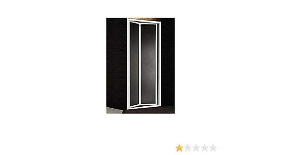 larghezza 85 cm profili argento satinato Altezza 185 cm Box doccia in acrilico nicchia porta a libro