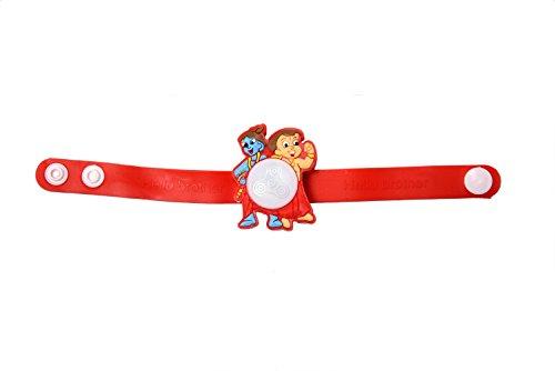 cd40709ccd69 Shree Ji Kids Bhim Krishna Light Wheel Rakhi Brother Rakshabhandhan Watch