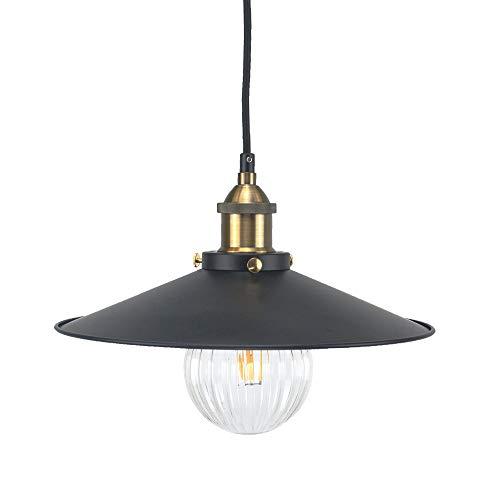 Luz colgante retro vintage - Pantallas de iluminación metálicas industriales E27 Iluminación decorativa clásica de Edison, lámpara de techo moderna para bar restaurante Loft