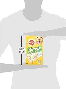 Pedigree Biscrok Friandises pour Chien Adulte, une Boîte de Biscuits de 350g - Pack de 12