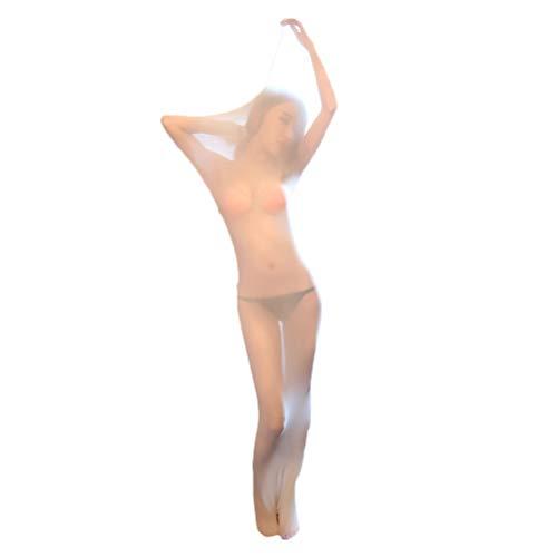 FENICAL Elastischer Bodystocking Ganzkörperstrümpfe Body Encasement Doppelverlängerung Nahtlose ultradünne Strümpfe Schlafsäcke Ganzkörper Bodystrümpfe (Fleischfarbe/Ohne Box) -