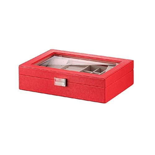 SHYPT Box-joyería de múltiples Compartimentos con Grandes Maquillaje Espejo, la Capa...