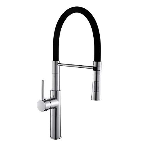 AISHFP Küchenarmatur, Einhand-Einlochmontage Nickel Gebürstet Pull-Out/Pull-Down Centerset Traditionelle Küchenarmaturen -