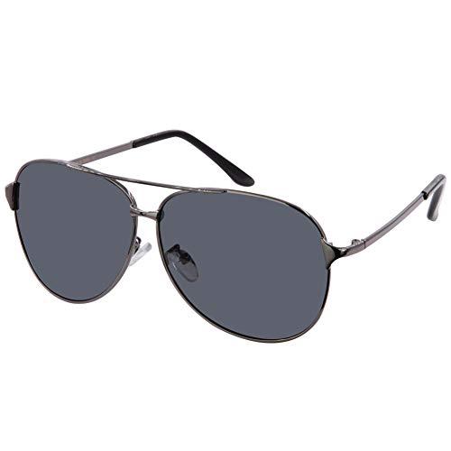 DUCO Polarisiert Pilotenbrille 100% UV400 Schutz für Damen und Herren 8009 (Gunmetal)