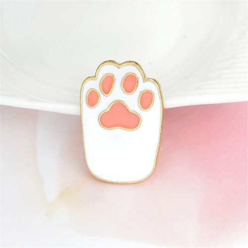 Yinew Cartoon Cat Claw Brosche Cartoon Claw Pin niedlichen Tier Haustier Brosche Rucksack Zubehör Geschenk für Kleidung Taschen Hüte, weiß (Pins Und Tier Broschen)