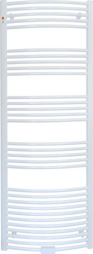 Badheizkörper Handtuchwärmer Weiss gebogen Handtuchheizung Heizung Heizkörper Auswahl-Badheizkörper-Gerade 400 x 1800 mm