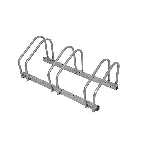 HENGMEI Fahrradständer Mehrfachständer Bügelparker Fahrradparker Boden Wand Montage (Für 3 Fahrräder) -