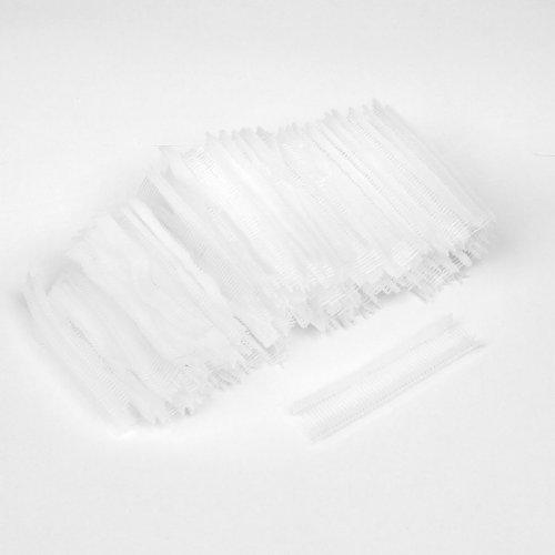 Sourcingmap Lot de 5000 clous en polypropylène de couleur Transparent/blanc 15 mm pour pistolet