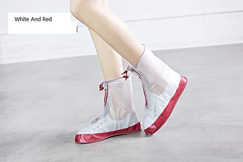 GROPC Bambino Coperchio Scarpe Stivali da Pioggia Riutilizzabile e Lavabile Non Rinforzato - Slittamento Kids Calzatura protettori Pioggia Calze Dimensioni 28-33