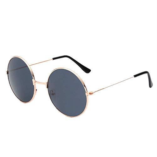 Yibaision Runde Sonnenbrille Polarisierte mit schmalem Metall Gestell, Retro Design, Bügel mit Federscharnier, Unisex,26 Farben Iris(,Y)