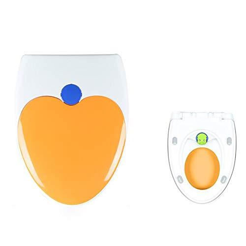 YLXD Toilettendeckel,High-End Duroplast WC Sitz,Klobrille Toilettensitz abnehmbar zur Reinigung,Absenkautomatik,Easy-Clean Funktion für Familien mit Kinder
