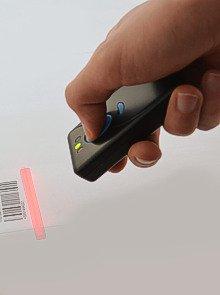 Albasca MK-500W3 Bluetooth Barcodescanner,, Mobiles Gerät mit Speicher, spez. Modus für ipad, iphone, Android, PDA, spezieller Modus für IPAD/IPHONE, hohe Funkreichweite (Pda Mobile Windows)