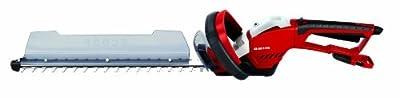 Einhell Elektro Heckenschere GE-EH 6056 (600 Watt, 520 mm Schnittlänge, 25 mm Zahnabstand, inkl. Schnittgutsammler, Köcher, drehbarer Handgriff)