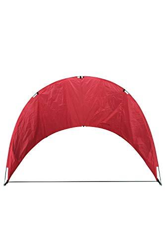 Mountain Warehouse Kompakter Windschutz - Leichter Anorak, einfach zu verwendender Windschutz, langlebig - ideal für Urlaub, Strand, Campen, Wandern Rot