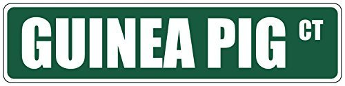 Meerschweinchenkäfig, 4x 18-Metall-Schild
