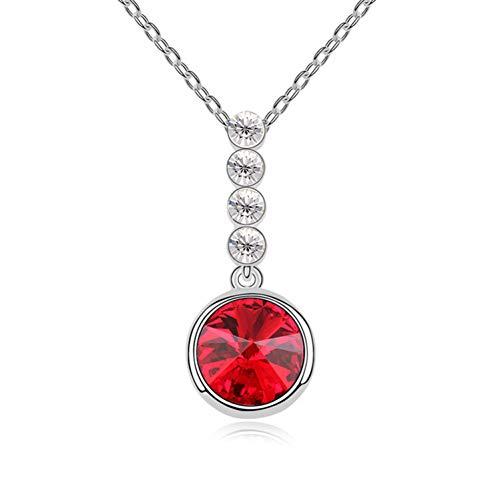 JMZDAW Halskette Anhänger Kristall Halskette - Mood Travels Fashion Temperament Damenschmuck Anhänger Schlüsselbein Kette