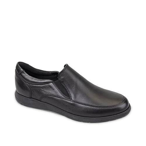 Valleverde Schuhe Mann Slip auf 36841 SCHWARZ Größe 41 Schwarz -