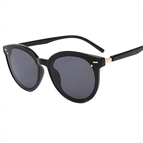 MeiqiLN Koreanische Version Der Marke V Sonnenbrille Net Roten Rahmen Dünnes Gesicht Brille 5,5 * 2,2 Zoll Schwarz