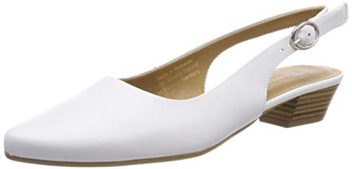 Tamaris Damen 1-1-29400-22 Slingback Pumps, Weiß (White Leather 117), 41 EU Schuhe Slingbacks