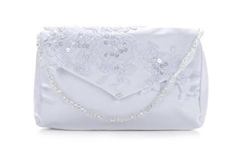 Frühlings-SALE! Brauttasche Abendtasche festliche Tasche Weiss mit Pailetten