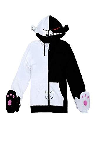 Disfraz de Cosplay de Anime Unisex de Halloween Navidad Sudadera con Patron Animal Oso para Otono Invierno con Guantes, S