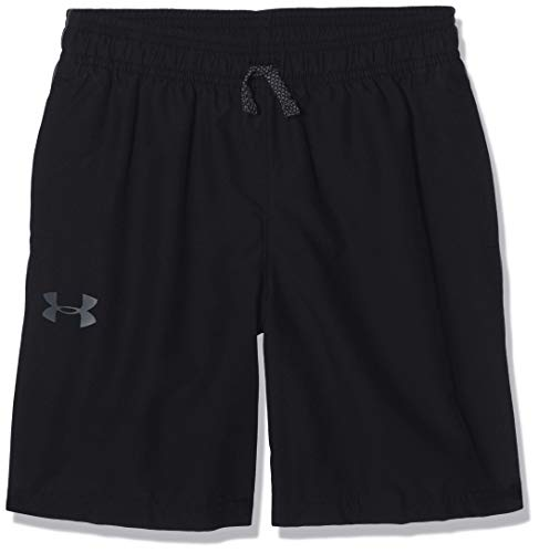 Under Armour Jungen Woven Graphic Shorts Kurze Hose, Schwarz, YMD