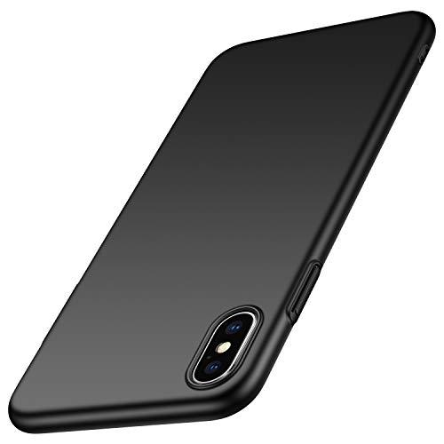 Arkour für iPhone XS Hülle, iPhone X Hülle, Minimalistisch Ultradünne Leichte Slim Fit Handyhülle mit Glattes Matte Oberfläche Hard Case für iPhone XS (2018)/iPhone X (2017) - Glattes Schwarz Slim Fit Hard Case