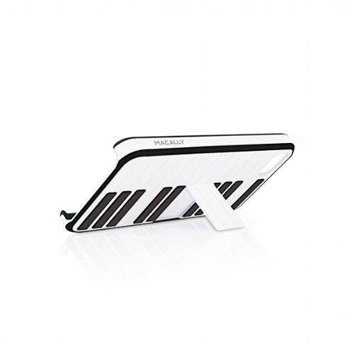 Macally Jazz Etui Schutzhülle für Apple iPhone 5 mit Ständer schwarz/weiß (5 Iphone Macally)