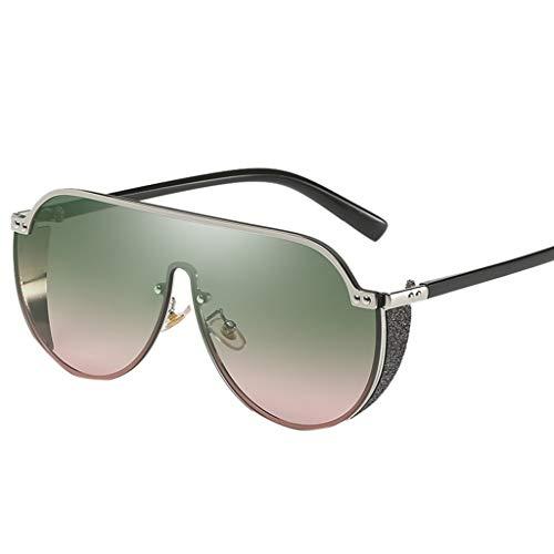 Damen Herren Retro Vintage Sonnenbrille Polarisiert Brille Punk UV-Schutz Spiegel Metall Rahme Gläser Outdoor Verspiegelt PPangUDing Fahrer Design Classic Original (Eine Größe, Mehrfarbig)