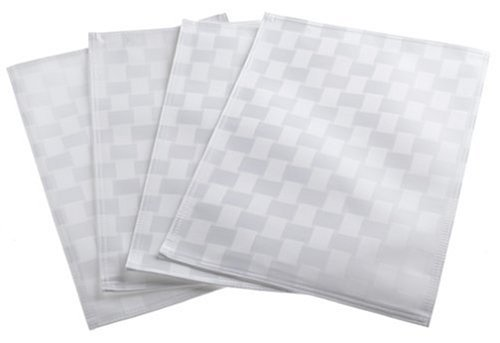 Bardwil Reflections Spill Proof Set Of 4 Placemats, White by Bardwil Bardwil Set