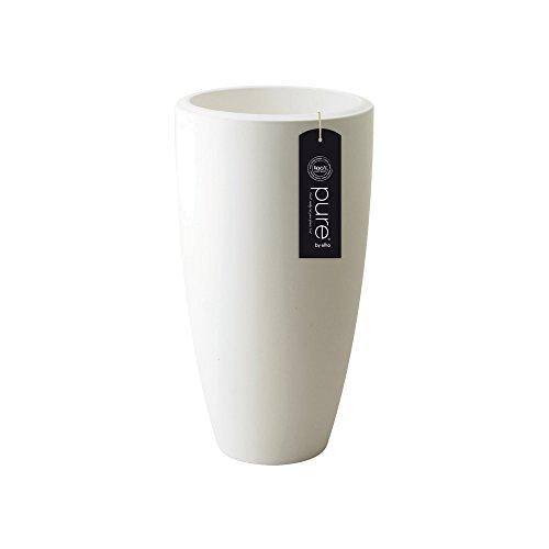 Elho pure soft round high 30 fioriera - bianco
