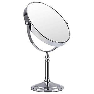 SONGMICS Kosmetikspiegel 10 fach + nomal doppelseitiger Tischspiegel BBM006