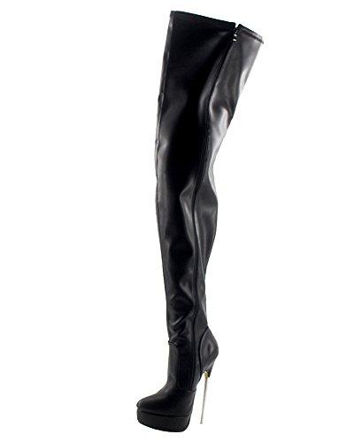 Heel Platform Knee Stiefel (Wonderheel stiletto high heel boots matte platform over-knee stiefel crotch boots)