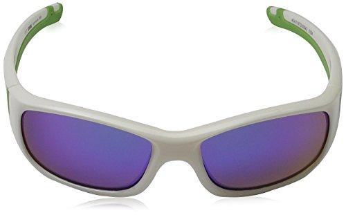 Uvex Occhiali sportivi Unisex bambini Sportstyle 506, Bianco (White/Green), Taglia unica