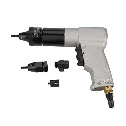"""1/4\""""Pneumatische Nietmaschine, 1000 U/min 90PSI Industrielle automatische Luftmutternpistole Werkzeug-Zugmutter-Nietpistole für die Metallplattenrohr-Fertigungsindustrie"""