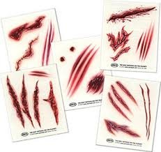 Temporary Wound Tattoos (5 sheets)