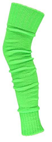 krautwear® Damen Beinwärmer Stulpen Legwarmers Overknees gestrickte Strümpfe ca. 70cm 80er Jahre 1980er Jahre (neon grün) - 1980er-jahre Grün