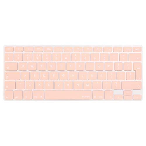 MOSISO EU/UK Copertura Tastiera Compatibile MacBook Pro 13 Pollic/15 Pollici(con/out Display Retina, 2015 o Versione Precedente) MacBook Air 13 Pollici(A1369/A1466,Edizione 2010-2017), Quarzo Rosa