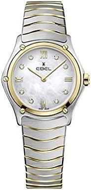ساعة يد كلاسيكية رياضية من الستيل والذهب 18 قيراط بحركة كوارتز سويسرية للنساء من ايبيل 1216388A
