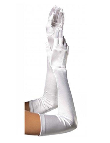 Jueshanzj Femme Long gants en polyester pour mariage soirée opéra Blanc Taille Unique