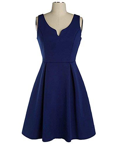 Vintage Donna Mini Vestiti Ginocchio-lunghezza Partito Vestito Abito da Sera Marina Militare