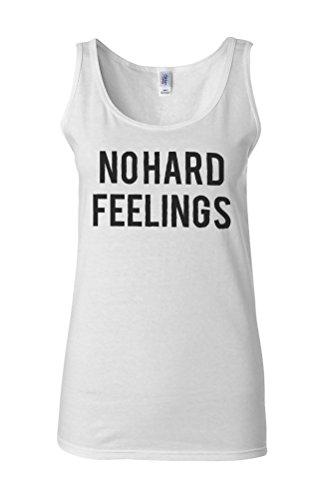 No Hard Feelings Cool Novelty White Femme Women Tricot de Corps Tank Top Vest **Blanc
