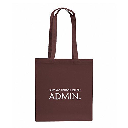 TEXLAB - Lasst mich durch. Ich bin Admin - Stoffbeutel, ()