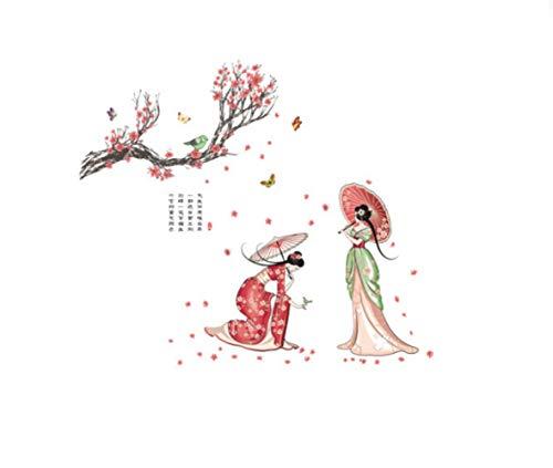 Chinesische Wind Wandaufkleber klassische Schönheit antiken Stil Kostüme Damen Figur selbstklebende - Fett Baby Kostüm